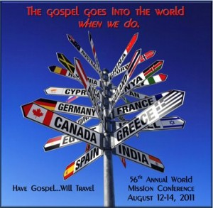 56th Annual World Mission Conference Poster Graphic