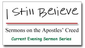"""I Still Believe"" Sermon Series Graphic"